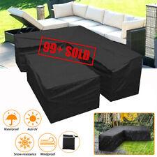 More details for rattan corner sofa cover l shape garden furniture protector outdoor waterproof