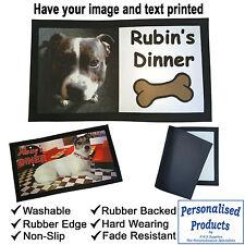 Pet Dog Cat Feeding Mat Personalised Washable Rubber Backed  40x25cm