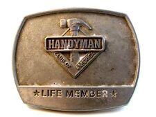 1996 Handyman Club Life Member Silver Tone Belt Buckle