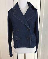 Dressbarn Women's Blue Denim Long Sleeve Jean Jacket Size Small