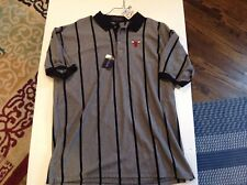 NWT VTG Chicago Bulls Embroidered Striped Antigua Polo SZ XL - Cool
