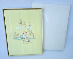 Vintage CR Gibson Baby Book Wee Me Record Memory Yellow B 325 New