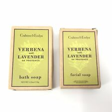 Crabtree & Evelyn Verbana and Lavender De Provence Bath & Facial Soaps 1.25oz x2