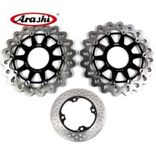 For HONDA CBR 1000 RR 2006 2007 CBR1000RR Front Rear Brake Disc Rotors Black
