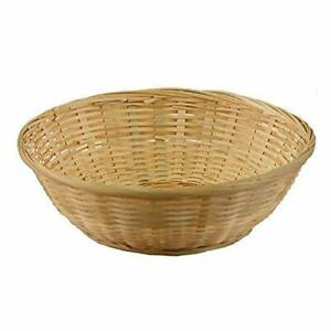 Bamboo Fruit and Vegetable Basket Food Serving basket Home Decor Beige 11 Inch