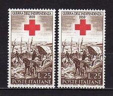 #206 - Repubblica - 25 lire Guerra Indipendenza, 1959 - Nuovo (** MNH) / Varietà