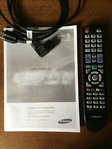 SAMSUNG LCD TV Series 5 500 User Manual Remote Control Power Cord