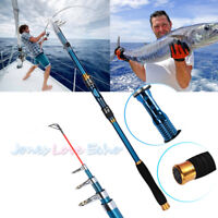 2.1m Professional Carbon Fiber Telescope Fishing Rod Travel Sea Spinning Pole US