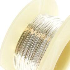 Sterling Silver Round Wire Half Hard / Dead Soft 28 26 24 22 21 20 18 .. Gauge