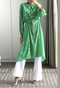Scanlan Theodore CDC Floral Embroidered Dress Emerald 12