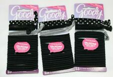 Lot of 3 Goody Ouchless No Metal Elastic Hair Ties Ribbon Ponytail Holder 69 Pcs