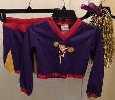 Disney Kim Possible Girls Cheer Leader Purple/Red Halloween Costume Sz S 6/6x