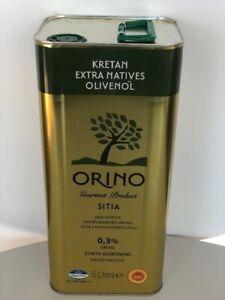 5 L Extra Natives Olivenöl aus Kreta (7,80 €/Lt). Nur bis 0,3% Säuregehalt!