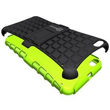 for HTC One X9 Case - Neon Green / Black Dual Layer Kickstand Phone Armor