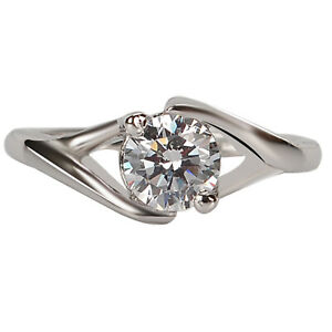 G-H Color 0.50Ct (5.50mm app.) VS2 Natural Diamond Solitaire Ring In 14KT Gold