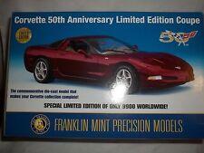 FRANKLIN MINT 2003 Corvette Coupé 50th Anniversario 1/24 Menta & in scatola