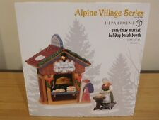 Dept 56 Alpine Accessory - Christmas Market, Holiday Bread Booth - Set of 2 -Nib