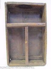 Old Farm Make-Do Wood Box Shelf - Hazel Atlas Glass Co Mason Jar box back