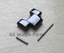 Black Ceramic Link passt Emporio Armani AR1400/AR1410/AR1414/AR1406 Ersatz Riemen