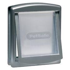 Petsafe puerta mascotas 2 posiciones 740 mediana 26 7x22 8 plateada gatera perro