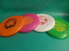 "Wham O Frisbee Disc 9"" 51132 Green, Orange, Pink, White Set of 4, Kids Toy , Dog"