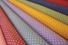 Telas y tejidos lunares Blanco para costura y mercería