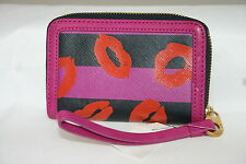 Marc by Marc Jacobs Wingman B Lips iPhone Case Wallet Wristlet - FUSHIA PINK
