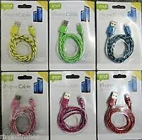iPhone Cable USB Charge & Sync 1M Cable [Colour May Vary]