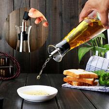 Oil and Vinegar Glass Bottle Kitchen Cooking Soy Sauce Cruet Storage Dispenser