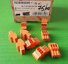 Terminal Block 3 Way Plugable Cable 1638560000 BL3.5/03/90 Weidmuller x 1pc ONO