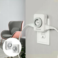 DEWENWILS 24Hour Mechanical Indoor Plug in Light Timer with 2 Outlets HIMT12A