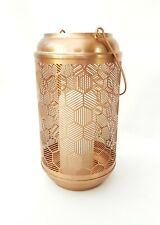 Copper Geometric Metal etched Lantern/ Hurricane. Candle holder. Brand New.