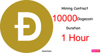 At least 10000 Dogecoins 1 hours Dogecoin DOGE Cryptocurrency mining contract