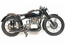 BMW R51 RS  VINTAGE RACER   MOTORCYCLE  LARGE POSTER 20 X 30  PHOTOGRAPY