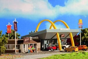 Vollmer 43635 Mcdonald´S Fast Food Restaurant With Mccafé, Kit, H0