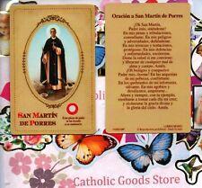 Oracion a San Martin de Porres - Spanish- Relic Paperstock Holy Card