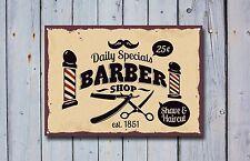 Salon de coiffure signal métallique décoration Signe murale plaques 339