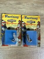 2 X Hobby Products Metal Magic Fantasy Figures C1012M - D&D - RPG - Harpy - 90s