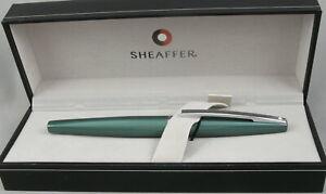 Sheaffer Taranis Forest Green & Chrome Fountain Pen - Fine Nib - New In Box