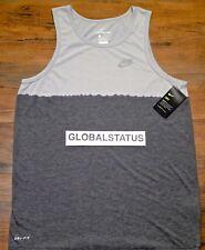 15e05721eb4d79 Nike Dry DIP Dye Men s Dri Fit Running Tank Top Size L Grey - 922174 012