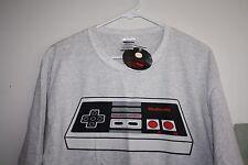 New Nintendo Controller Shirt Mens size L Video Game Nerds Gray tech  --PP-