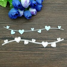 Heart Edge Border Metal Cutting Dies Stencil Cards Making  Decorating Embossing