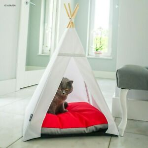 Glamour Teepee cat bed - Raspberry, cat tipi with pillow*luxury cat*cat tent