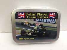 JPS John Player Lotus Senna Motor Cigarette Tobacco Storage 2oz Hinged Tin