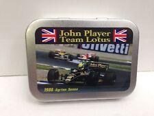 JPS John Player Lotus Senna Motor Cigarette Tobacco Storage 2oz Hinged Tin