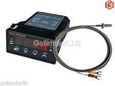 Universal 1/32DIN Digital PID Temperature Controller Red with K thermocouple