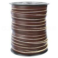 50 Feet CleverDelights 1//4 Genuine Leather Flat Cord Brown 6mm Cowhide Leather Strap