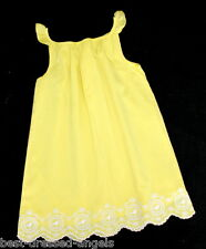 EGG BY SUSAN LAZAR Yellow Embroidered Flutter Dress Silk Girl Sz 6 7 EASTER NEW