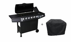 CosmoGrill 6+1 Gas Burner Grill BBQ Barbecue Inc Side Burner - 93422 with Cover