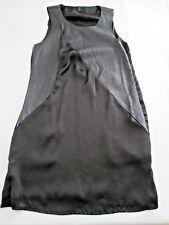VERO MODA FAB BLACK ROCK CHIC / SOFT GOTH ' MOCK LEATHER ' SLEEVELESS DRESS UK 8